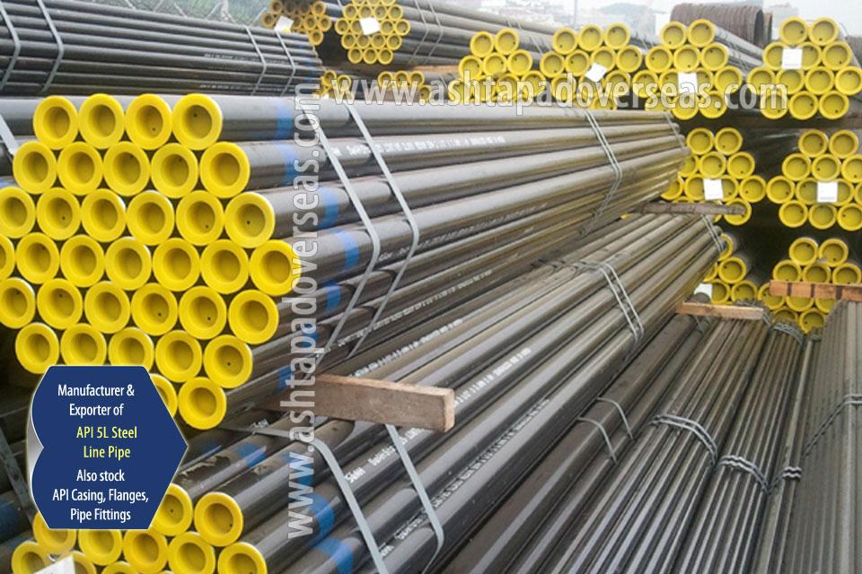 API 5L Grade B Carbon Steel ERW Pipe ready stock in our Stockyard