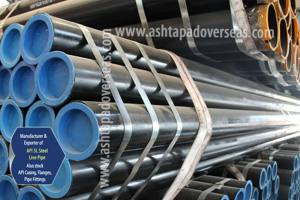 API 5L Grade B Carbon Steel Seamless Pipes ready stock in our Stockyard