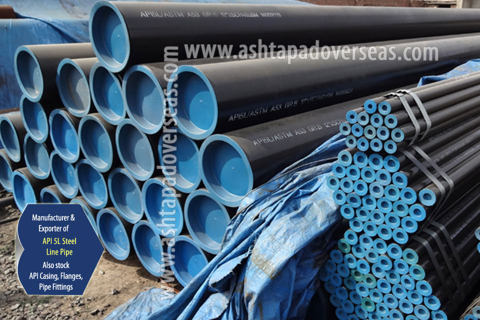 API 5L Grade B Carbon Steel Welded Pipe ready stock in our Stockyard