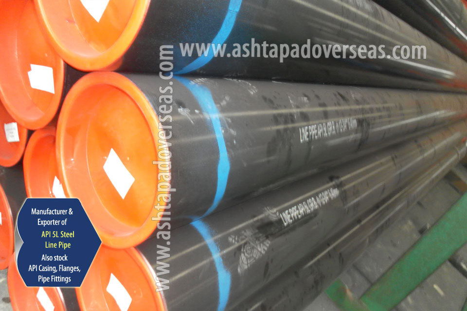 API 5L Grade B LSAW Pipe ready stock in our Stockyard
