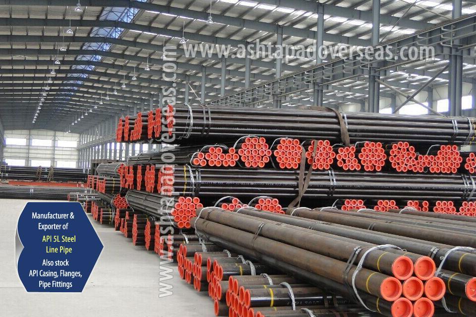 API 5L X46 ERW Pipe ready stock in our Stockyard