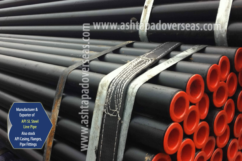 API 5L X46 LSAW Pipe ready stock in our Stockyard