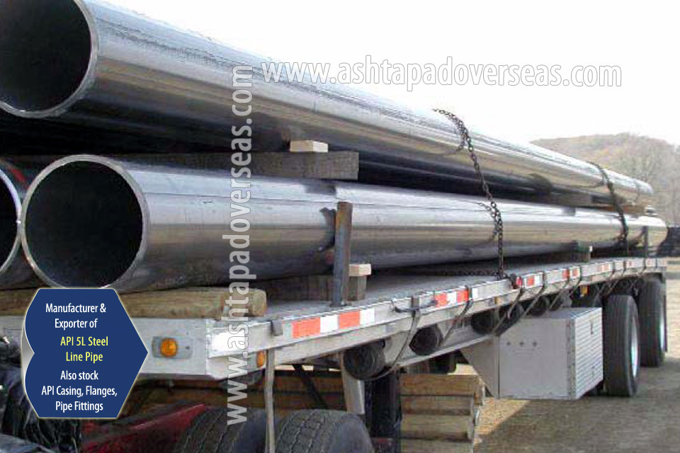 API 5L X46 SAW Pipe ready stock in our Stockyard