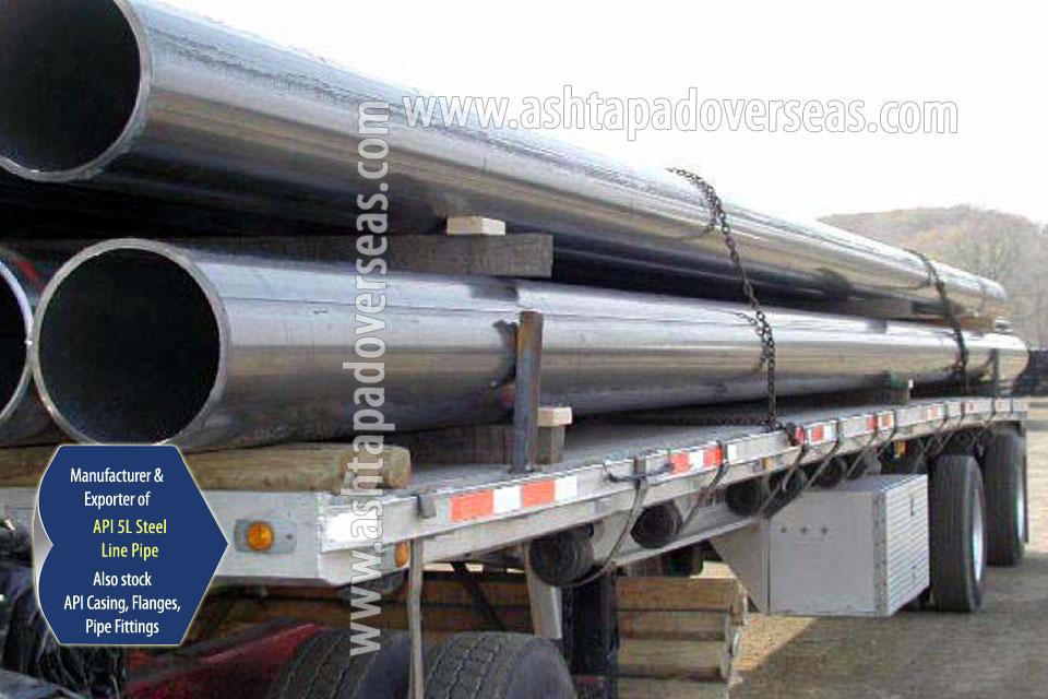 API 5L X46 SAW Pipe ready stock in our Stockyard