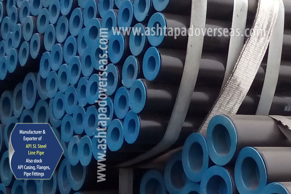 API 5L X52 ERW Pipe ready stock in our Stockyard