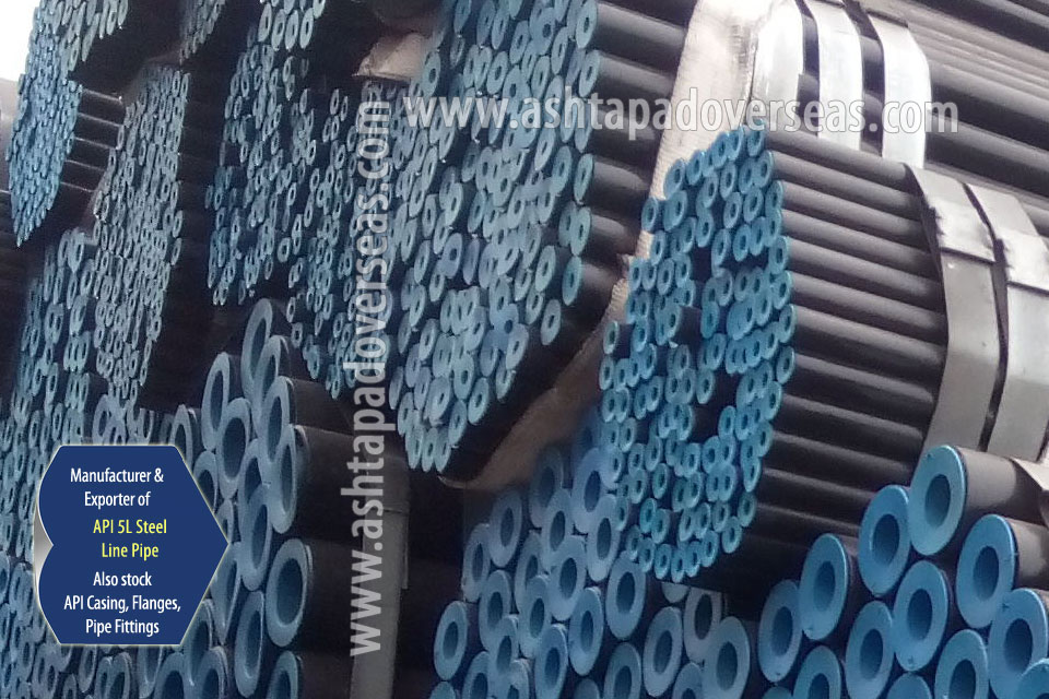API 5L X52 Line Pipe ready stock in our Stockyard