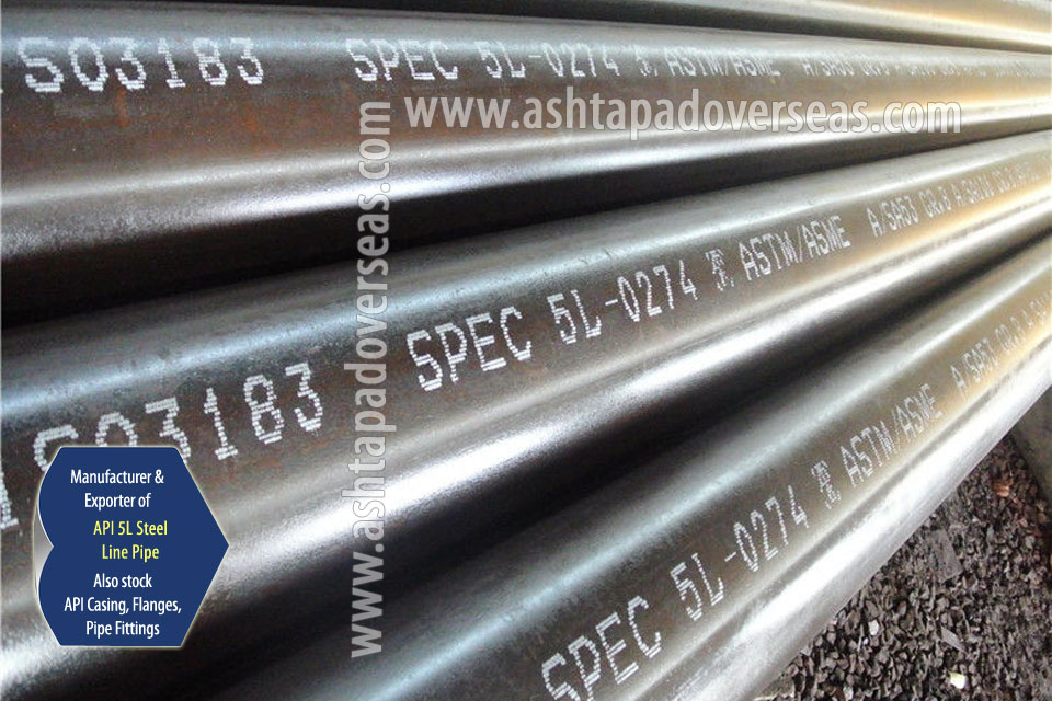 API 5L X52 LSAW Pipe ready stock in our Stockyard
