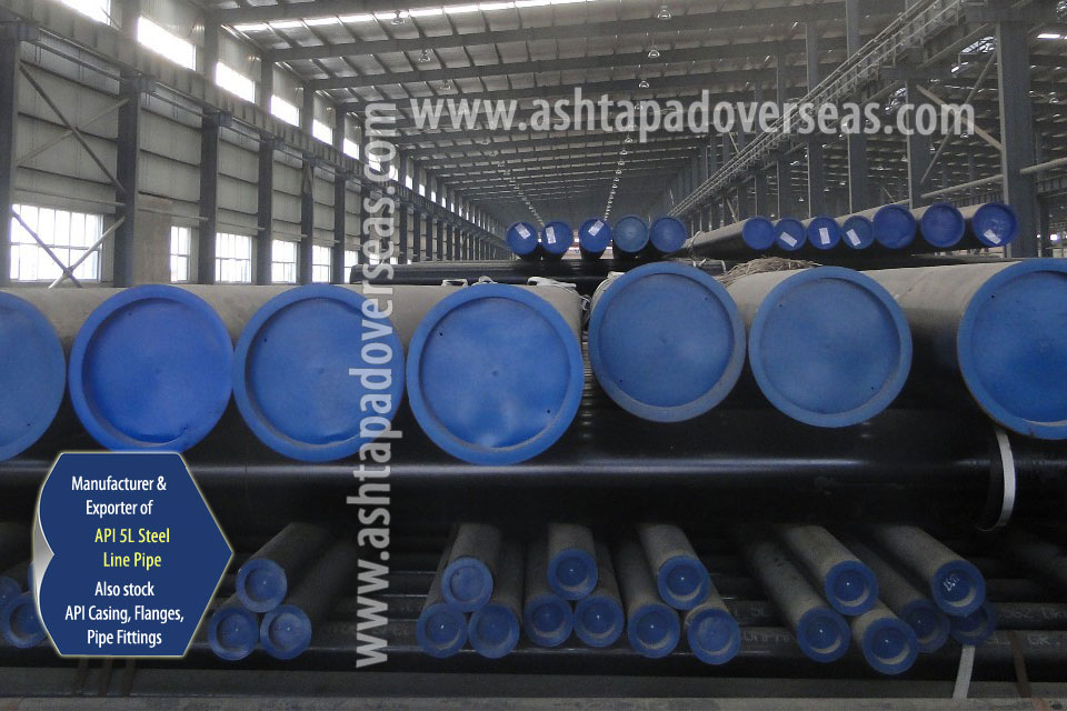 API 5L X56 ERW Pipe ready stock in our Stockyard