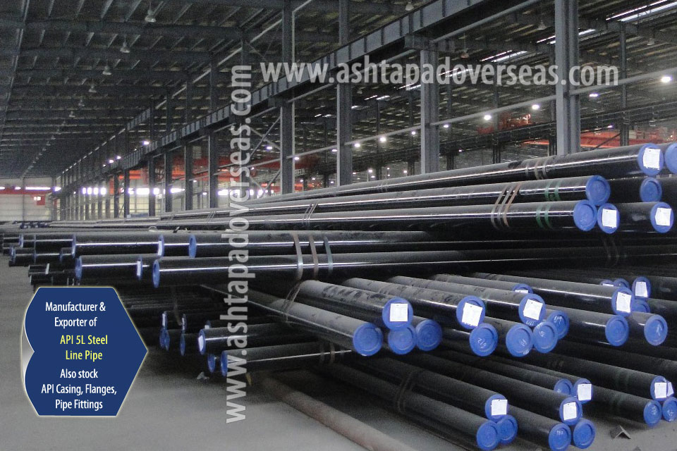 API 5L X56 Line Pipe ready stock in our Stockyard