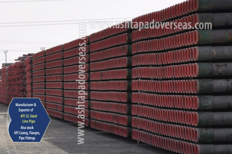 API 5L X56 LSAW Pipe ready stock in our Stockyard