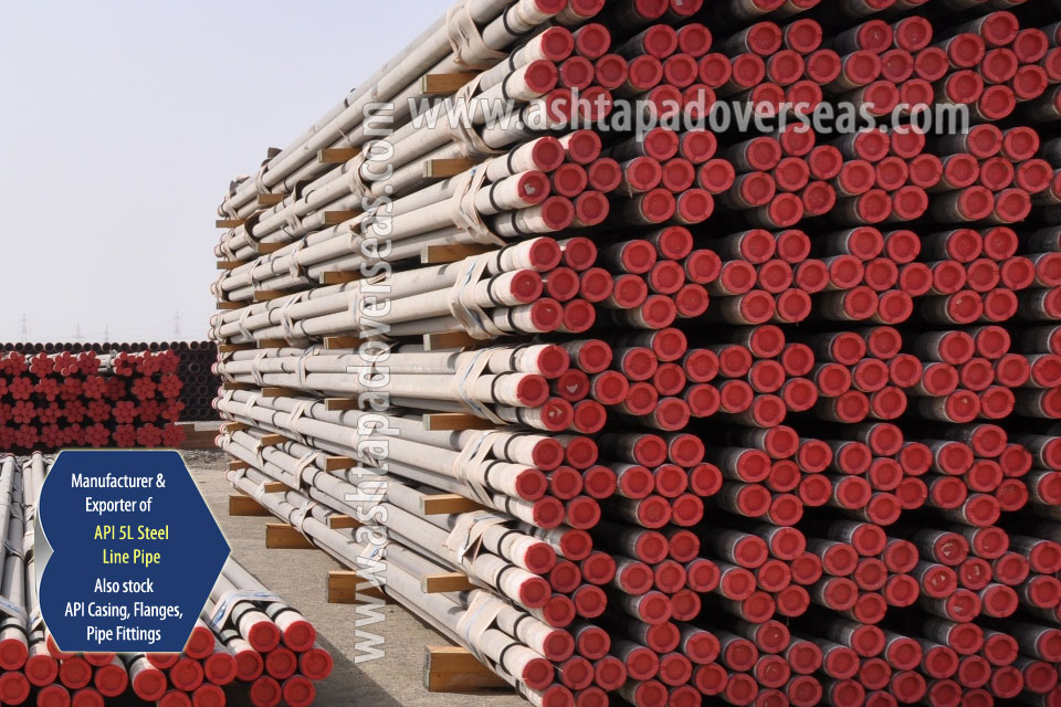 API 5L X56 SAW Pipe ready stock in our Stockyard
