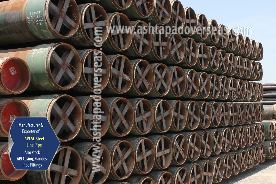 API 5L X56 SSAW Pipe ready stock in our Stockyard