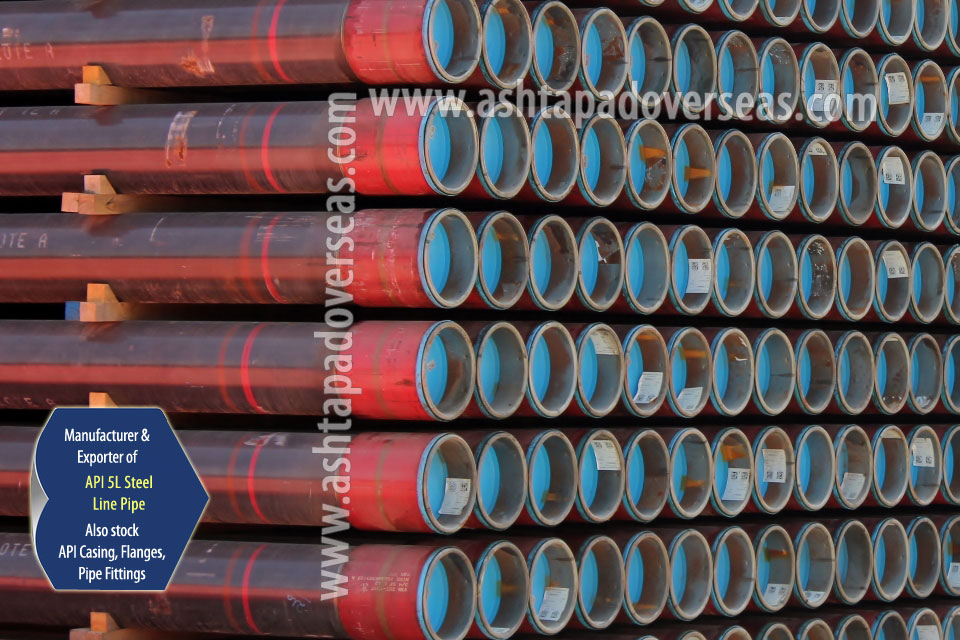 API 5L X60 ERW Pipe ready stock in our Stockyard