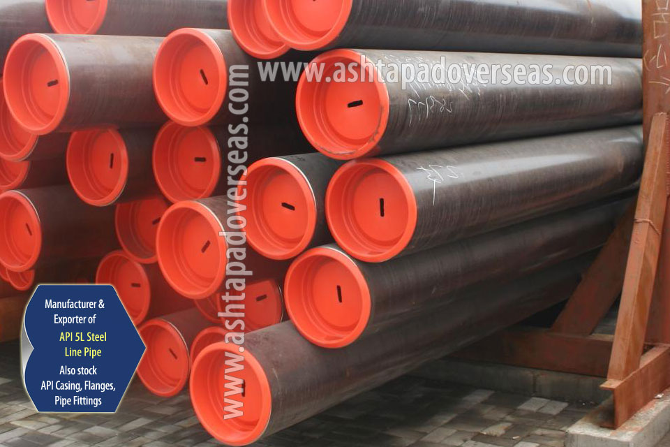 API 5L X60 LSAW Pipe ready stock in our Stockyard