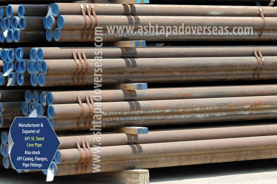 API 5L X60 SAW Pipe ready stock in our Stockyard