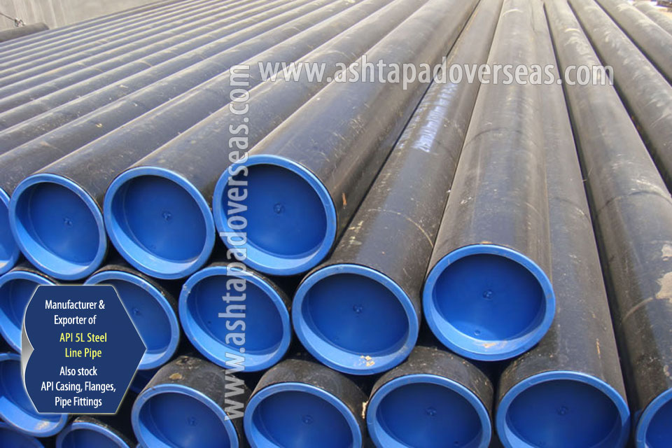 API 5L X65 ERW Pipe ready stock in our Stockyard