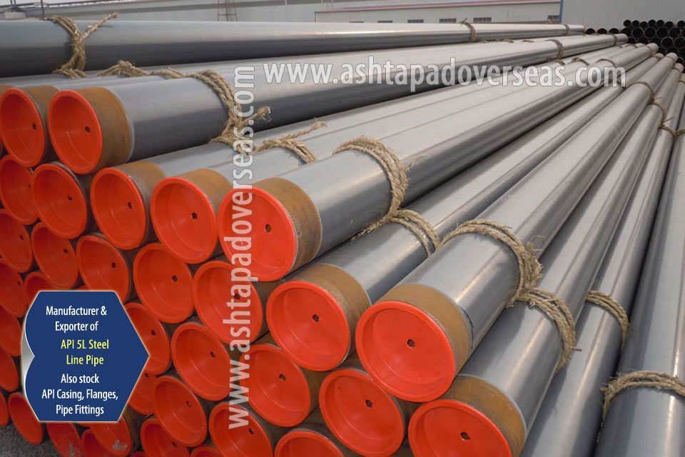 API 5L X65 Line Pipe ready stock in our Stockyard