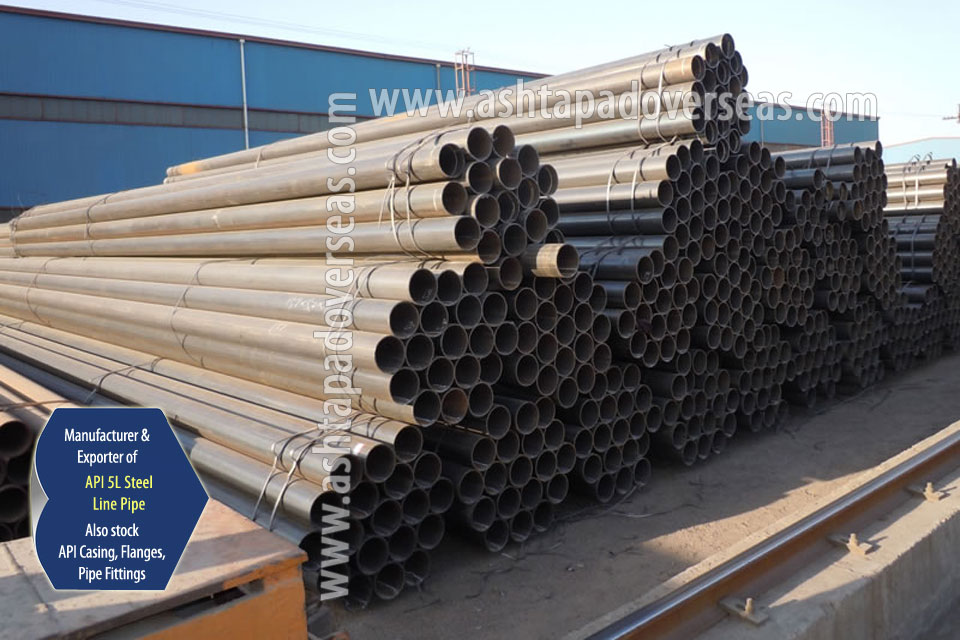 API 5L X65 LSAW Pipe ready stock in our Stockyard