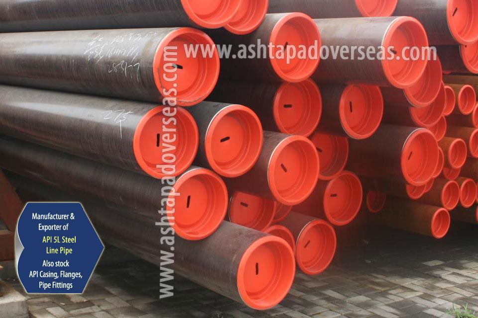 API 5L X65 Seamless Pipe ready stock in our Stockyard
