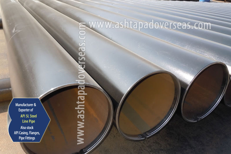 API 5L X70 ERW Pipe ready stock in our Stockyard