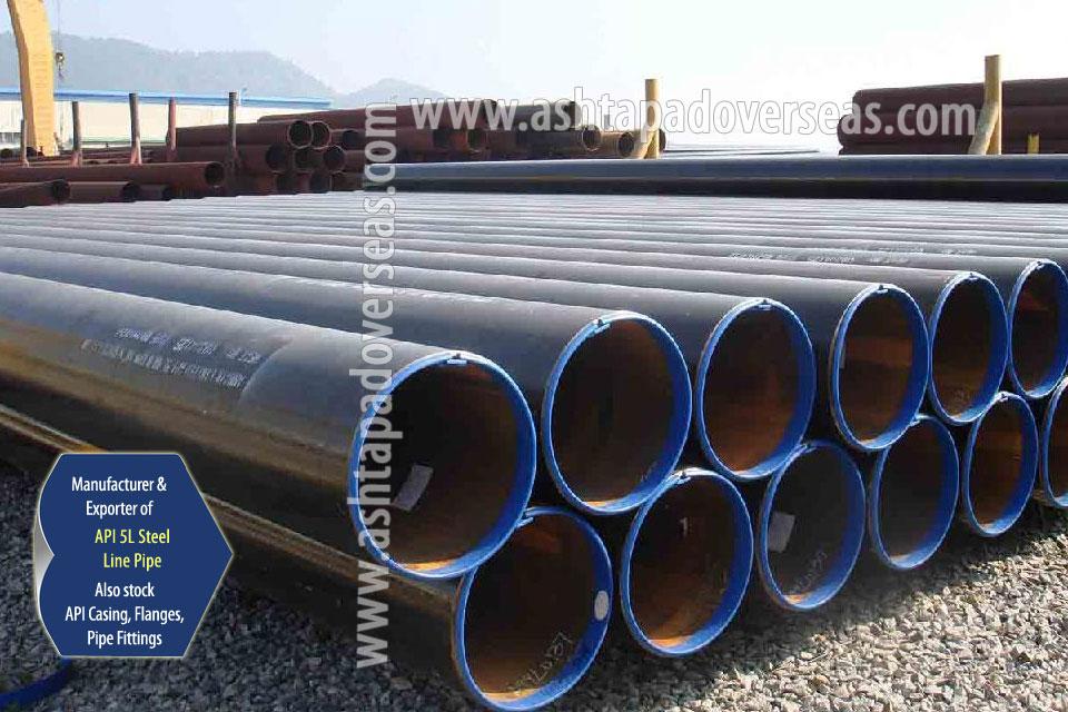 API 5L X80 ERW Pipe ready stock in our Stockyard