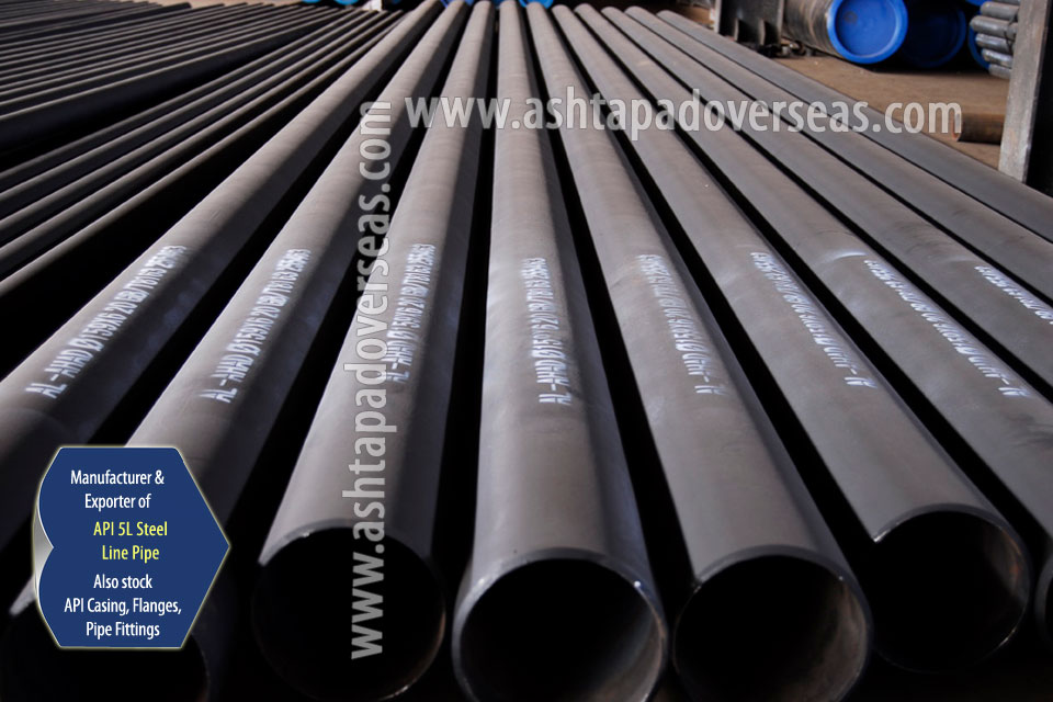 API 5L X80 Line Pipe ready stock in our Stockyard