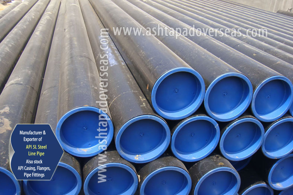 API 5L X80 LSAW Pipe ready stock in our Stockyard