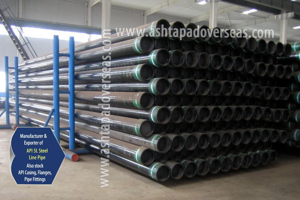 API 5L X80 SAW Pipe ready stock in our Stockyard