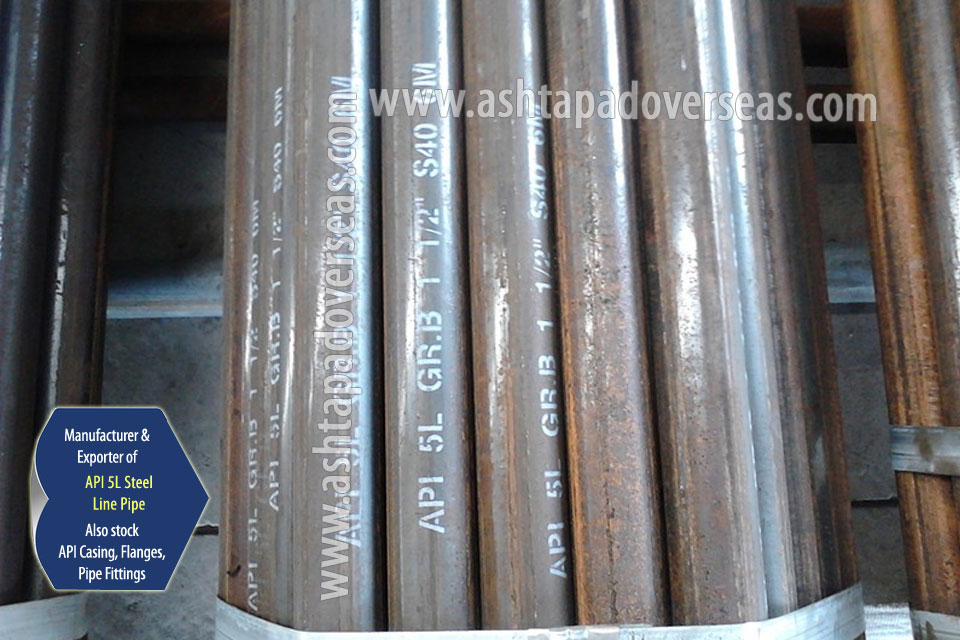 API 5L X80 Seamless Pipe ready stock in our Stockyard
