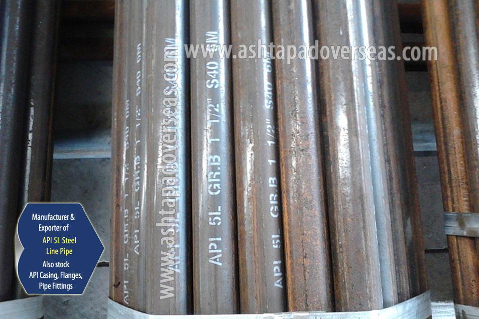 API 5L X80 Seamless Pipe ready stock in our Stockyard